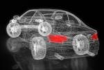 Gitter-/3D Modell eines Elektro-BMW