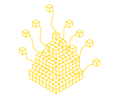 Open Data symbol image with a pile of boxes that are symbolizing open ans commercial data